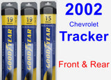 Front & Rear Wiper Blade Pack for 2002 Chevrolet Tracker - Assurance