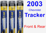 Front & Rear Wiper Blade Pack for 2003 Chevrolet Tracker - Assurance