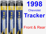 Front & Rear Wiper Blade Pack for 1998 Chevrolet Tracker - Assurance