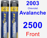 Front Wiper Blade Pack for 2003 Chevrolet Avalanche 2500 - Assurance