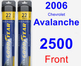 Front Wiper Blade Pack for 2006 Chevrolet Avalanche 2500 - Assurance