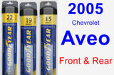 Front & Rear Wiper Blade Pack for 2005 Chevrolet Aveo - Assurance