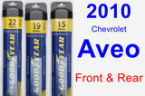 Front & Rear Wiper Blade Pack for 2010 Chevrolet Aveo - Assurance