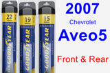 Front & Rear Wiper Blade Pack for 2007 Chevrolet Aveo5 - Assurance