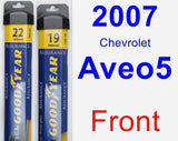 Front Wiper Blade Pack for 2007 Chevrolet Aveo5 - Assurance