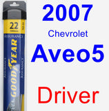 Driver Wiper Blade for 2007 Chevrolet Aveo5 - Assurance