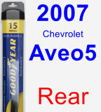 Rear Wiper Blade for 2007 Chevrolet Aveo5 - Assurance