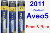 Front & Rear Wiper Blade Pack for 2011 Chevrolet Aveo5 - Assurance