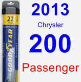 Passenger Wiper Blade for 2013 Chrysler 200 - Assurance