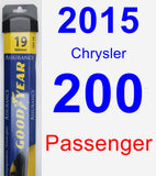 Passenger Wiper Blade for 2015 Chrysler 200 - Assurance