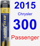 Passenger Wiper Blade for 2015 Chrysler 300 - Assurance