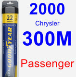 Passenger Wiper Blade for 2000 Chrysler 300M - Assurance
