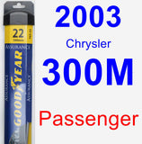 Passenger Wiper Blade for 2003 Chrysler 300M - Assurance