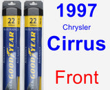 Front Wiper Blade Pack for 1997 Chrysler Cirrus - Assurance