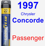 Passenger Wiper Blade for 1997 Chrysler Concorde - Assurance