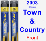 Front Wiper Blade Pack for 2003 Chrysler Town & Country - Assurance