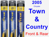 Front & Rear Wiper Blade Pack for 2005 Chrysler Town & Country - Assurance