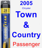 Passenger Wiper Blade for 2005 Chrysler Town & Country - Assurance