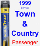 Passenger Wiper Blade for 1999 Chrysler Town & Country - Assurance