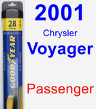 Passenger Wiper Blade for 2001 Chrysler Voyager - Assurance