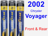 Front & Rear Wiper Blade Pack for 2002 Chrysler Voyager - Assurance