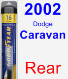 Rear Wiper Blade for 2002 Dodge Caravan - Assurance
