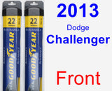 Front Wiper Blade Pack for 2013 Dodge Challenger - Assurance