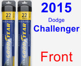 Front Wiper Blade Pack for 2015 Dodge Challenger - Assurance