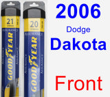 Front Wiper Blade Pack for 2006 Dodge Dakota - Assurance