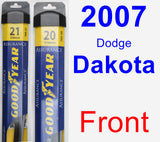 Front Wiper Blade Pack for 2007 Dodge Dakota - Assurance