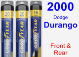 Front & Rear Wiper Blade Pack for 2000 Dodge Durango - Assurance