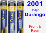 Front & Rear Wiper Blade Pack for 2001 Dodge Durango - Assurance