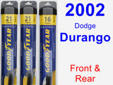 Front & Rear Wiper Blade Pack for 2002 Dodge Durango - Assurance