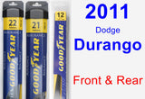 Front & Rear Wiper Blade Pack for 2011 Dodge Durango - Assurance