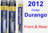 Front & Rear Wiper Blade Pack for 2012 Dodge Durango - Assurance