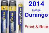 Front & Rear Wiper Blade Pack for 2014 Dodge Durango - Assurance