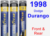 Front & Rear Wiper Blade Pack for 1998 Dodge Durango - Assurance