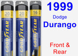 Front & Rear Wiper Blade Pack for 1999 Dodge Durango - Assurance