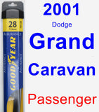 Passenger Wiper Blade for 2001 Dodge Grand Caravan - Assurance