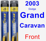 Front Wiper Blade Pack for 2003 Dodge Grand Caravan - Assurance
