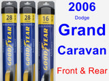 Front & Rear Wiper Blade Pack for 2006 Dodge Grand Caravan - Assurance