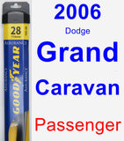 Passenger Wiper Blade for 2006 Dodge Grand Caravan - Assurance