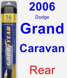 Rear Wiper Blade for 2006 Dodge Grand Caravan - Assurance