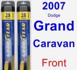 Front Wiper Blade Pack for 2007 Dodge Grand Caravan - Assurance