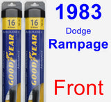 Front Wiper Blade Pack for 1983 Dodge Rampage - Assurance