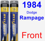 Front Wiper Blade Pack for 1984 Dodge Rampage - Assurance