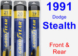 Front & Rear Wiper Blade Pack for 1991 Dodge Stealth - Assurance