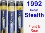 Front & Rear Wiper Blade Pack for 1992 Dodge Stealth - Assurance
