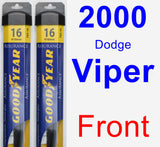 Front Wiper Blade Pack for 2000 Dodge Viper - Assurance