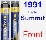 Front Wiper Blade Pack for 1991 Eagle Summit - Assurance